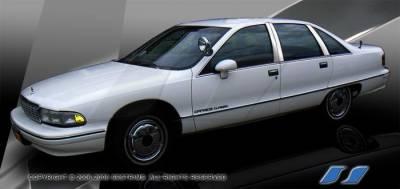 SES Trim - Chevrolet Caprice SES Trim Pillar Post - 304 Mirror Shine Stainless Steel - 6PC - P228