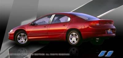 SES Trim - Dodge Intrepid SES Trim Pillar Post - 304 Mirror Shine Stainless Steel - 6PC - P231