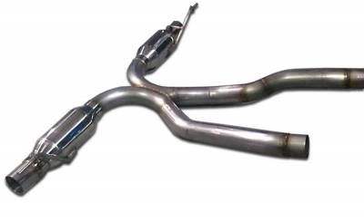 Agency Power - Porsche Cayenne Agency Power Catback Exhaust System with Resonators & Clamps - AP-958-170