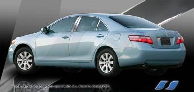 SES Trim - Toyota Camry SES Trim Pillar Post - 304 Mirror Shine Stainless Steel - 6PC - P235