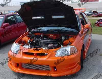 VIS Racing - Honda Civic VIS Racing Ballistix Front Bumper - 96HDCVC2DBX-001