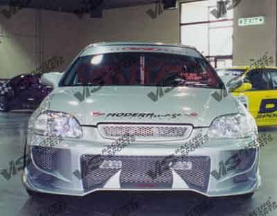 VIS Racing - Honda Civic VIS Racing Invader-4 Front Bumper - 96HDCVC2DINV4-001