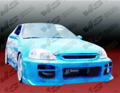 VIS Racing - Honda Civic VIS Racing Octane Front Bumper - 96HDCVC2DOCT-001
