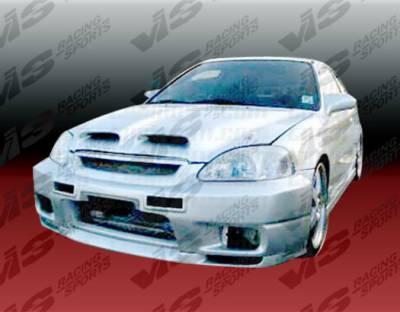 VIS Racing - Honda Civic VIS Racing Omega Front Bumper - 96HDCVC2DOMA-001