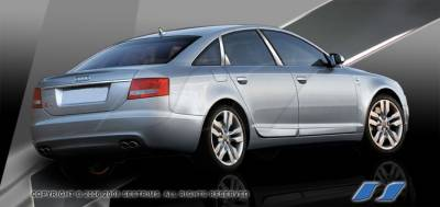 SES Trim - Audi A6 SES Trim Pillar Post - 304 Mirror Shine Stainless Steel - 6PC - P243