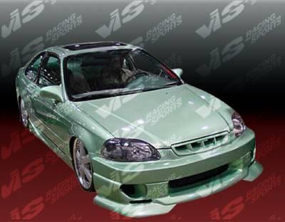 VIS Racing - Honda Civic VIS Racing Strada F2 Front Bumper - 96HDCVC2DSF2-001