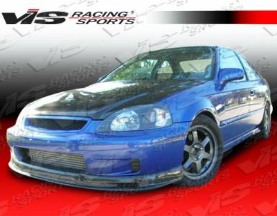VIS Racing - Honda Civic VIS Racing Type-S Carbon Fiber Lip - 96HDCVC2DSPN-011C
