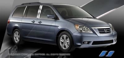SES Trim - Honda Odyssey SES Trim Pillar Post - 304 Mirror Shine Stainless Steel - 6PC - P247