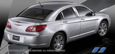 SES Trim - Chrysler Sebring SES Trim Pillar Post - 304 Mirror Shine Stainless Steel - 6PC - P249