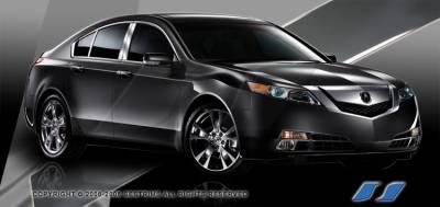 SES Trim - Acura TL SES Trim Pillar Post - 304 Mirror Shine Stainless Steel - 6PC - P250