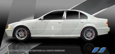 SES Trim - BMW 5 Series SES Trim Pillar Post - 304 Mirror Shine Stainless Steel - 6PC - P252
