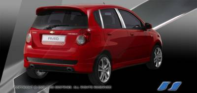 SES Trim - Chevrolet Aveo SES Trim Pillar Post - 304 Mirror Shine Stainless Steel - 6PC - P256