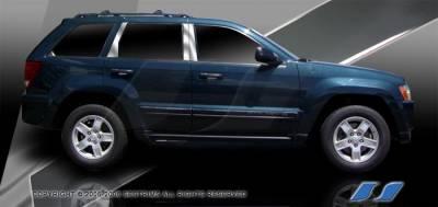 SES Trim - Jeep Grand Cherokee SES Trim Pillar Post - 304 Mirror Shine Stainless Steel - 6PC - P259