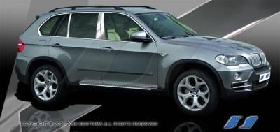 SES Trim - BMW X5 SES Trim Pillar Post - 304 Mirror Shine Stainless Steel - 6PC - P261