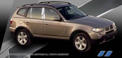 SES Trim - BMW X3 SES Trim Pillar Post - 304 Mirror Shine Stainless Steel - 6PC - P262