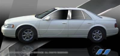 SES Trim - Cadillac Seville SES Trim Pillar Post - 304 Mirror Shine Stainless Steel - 6PC - P264