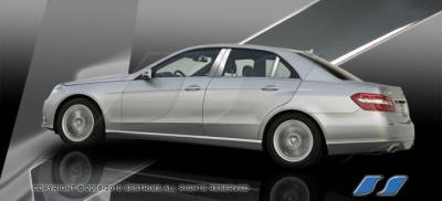 SES Trim - Mercedes-Benz E Class SES Trim Pillar Post - 304 Mirror Shine Stainless Steel - 6PC - P271