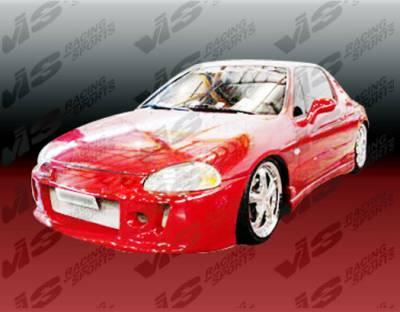 VIS Racing - Honda Del Sol VIS Racing Techno R Front Bumper - 97HDDEL2DTNR-001