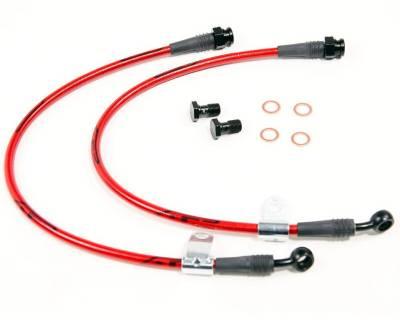 Agency Power - Hyundai Genesis Agency Power Steel Braided Brake Lines - Front - AP-BK-405