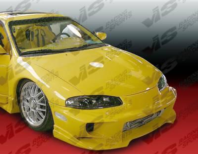 VIS Racing - Mitsubishi Eclipse VIS Racing Invader-4 Front Bumper - 97MTECL2DINV4-001