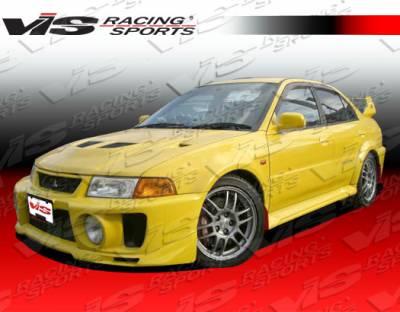 VIS Racing - Mitsubishi Mirage 2DR VIS Racing Evolution-5 Front Bumper - 97MTMIR2DEVO5-001