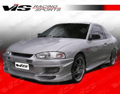 VIS Racing - Mitsubishi Mirage 2DR VIS Racing Tranz Front Bumper - 97MTMIR2DTZ-001
