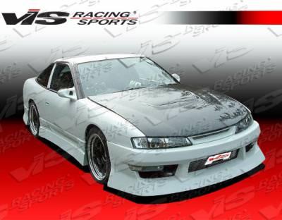 VIS Racing - Nissan 240SX VIS Racing V Spec-4 Front Bumper - 97NS2402DVSC4-001