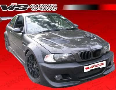 VIS Racing. - BMW 3 Series 2DR VIS Racing DTM Widebody Front Bumper - 99BME462DDTMWB-001