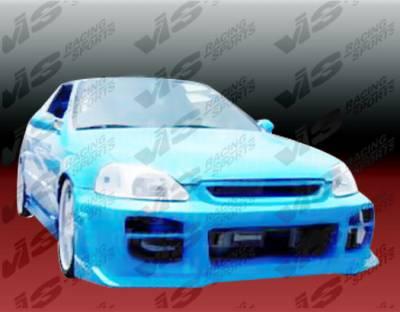VIS Racing - Honda Civic VIS Racing Octane Front Bumper - 99HDCVC2DOCT-001