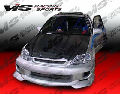 VIS Racing - Honda Civic VIS Racing Strada F2 Front Bumper - 99HDCVC2DSF2-001