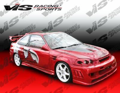 VIS Racing - Honda Civic VIS Racing Stalker 2 Front Bumper - 99HDCVC2DSTK2-001