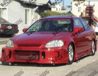 VIS Racing - Honda Civic VIS Racing TSC 2 Front Bumper - 99HDCVC2DTSC2-001
