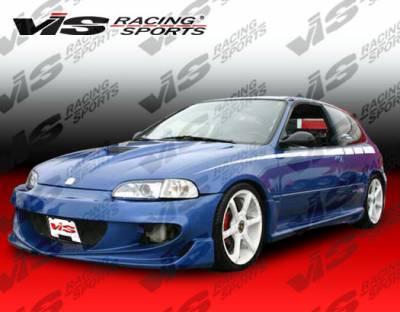 VIS Racing - Honda Civic VIS Racing XGT Front Bumper - 99HDCVC2DXGT-001
