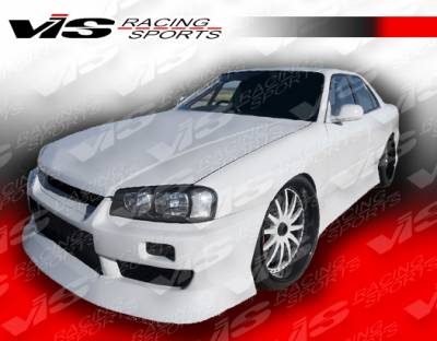 VIS Racing - Nissan Skyline VIS Racing B-Speed Front Bumper - 99NSR34GTRBSP-001