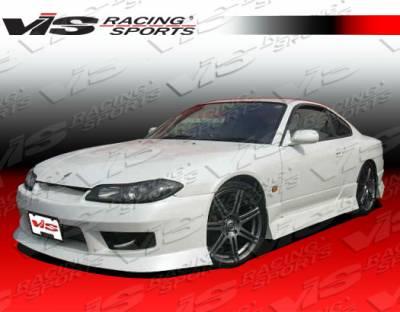 VIS Racing - Nissan Silvia VIS Racing V Spec-4 Front Bumper - 99NSS152DVSC4-001