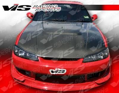 VIS Racing. - Nissan Silvia VIS Racing V Speed Widebody Front Bumper - 99NSS152DVSPWB-001