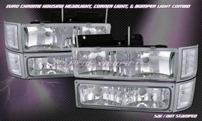 Custom - Chrome Halo Headlights COMBO