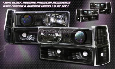 Custom - Black Halo Headlights COMBO