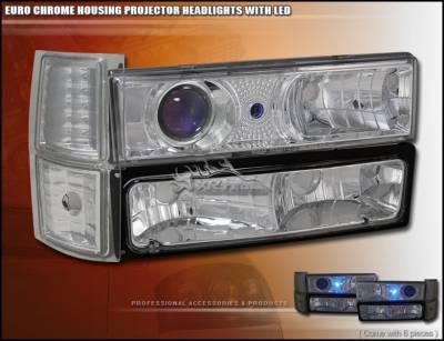 Custom - Euro Chrome Pro Headlights Combo