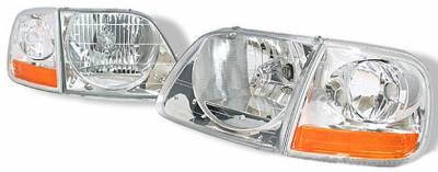Custom - Euro Clear Headlights With Corner