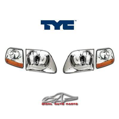 Custom - Chrome Clear TYC Headlights With Corner