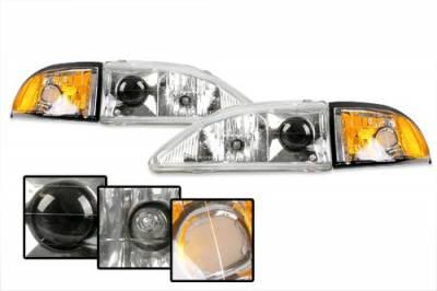 Custom - Chrome Pro Headlights With Amber Corner