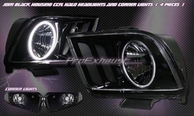 Custom - JDM Black Halo Headlights With Corner