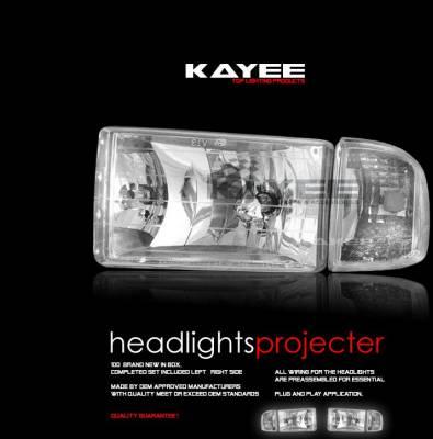 Custom - Crystal Clear Headlights With Corner