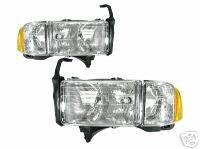 Custom - Chrome Crystal Headlights With Corner