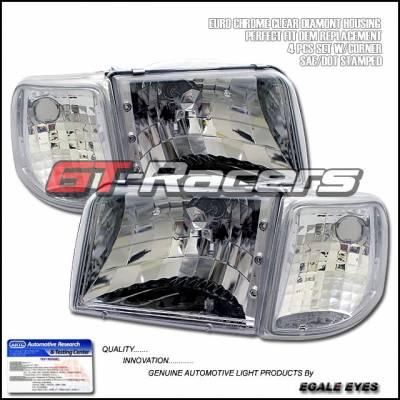 Custom - G3 Crystal Headlights With Corner