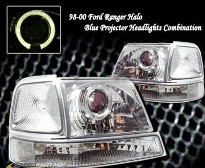 Custom - Chrome Halo Pro Headlights With Corner