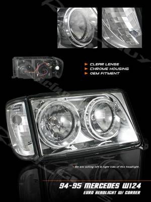 Custom - W124 94-95 Headlights and Corners