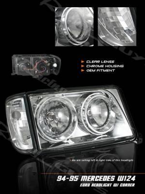 Custom - W124 94-95 Headlights and Corners