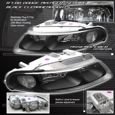 Custom - Black Diamond Headlights - Amber Corners